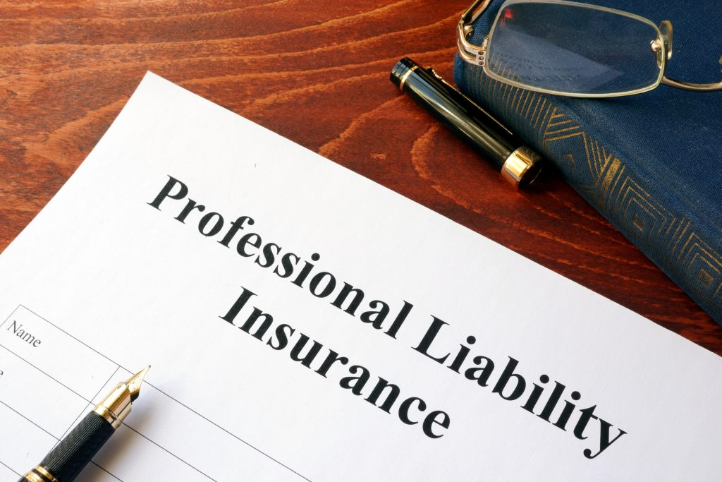 Professional liability insurance policy